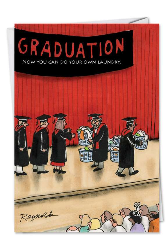 Do Your Laundry: Humorous Graduation Printed Card