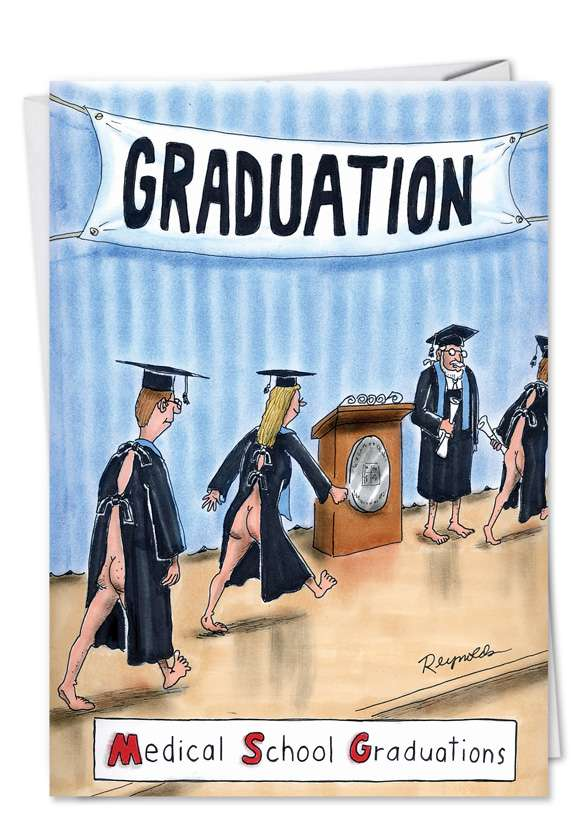 MSG: Humorous Graduation Greeting Card