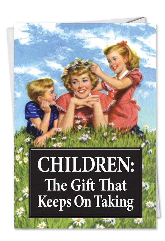 Children Keep on Taking Blank Card