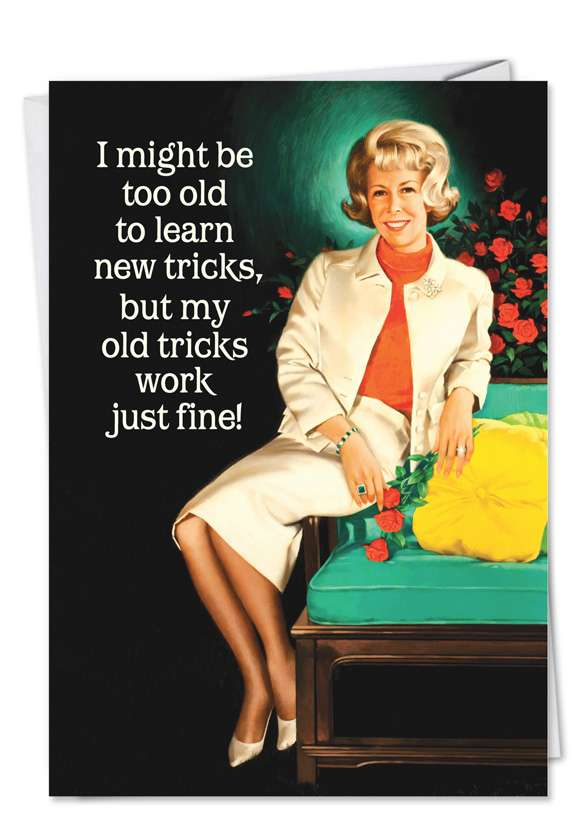 Old Tricks New Tricks: Funny Birthday Greeting Card