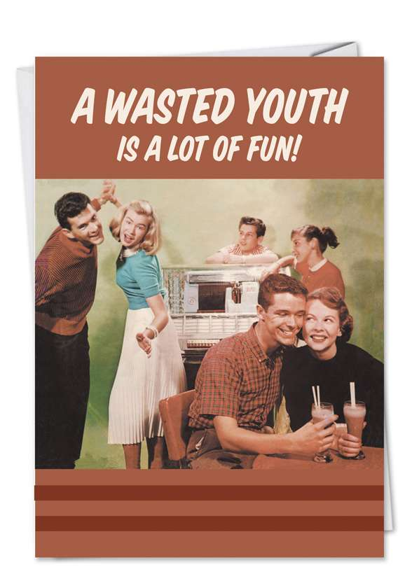 Wasted Youth Blank Card