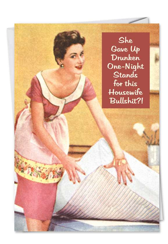Gave Up One Night Stands Blank Card