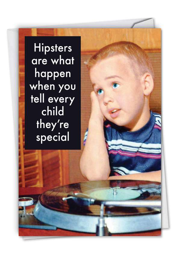 Hipsters: Funny Birthday Printed Card