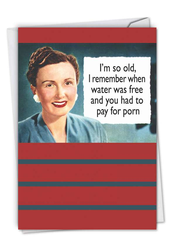 Pay for Porn: Funny Birthday Paper Card