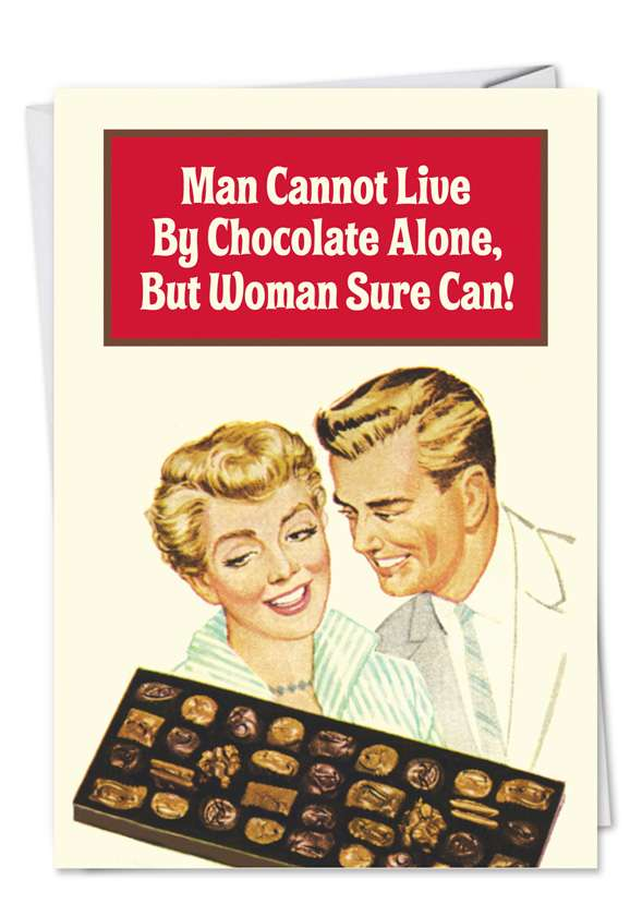 Live by Chocolate Alone Blank Card
