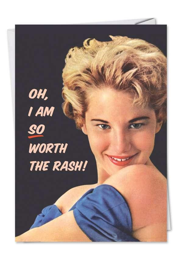 Worth the Rash: Humorous Blank Paper Card