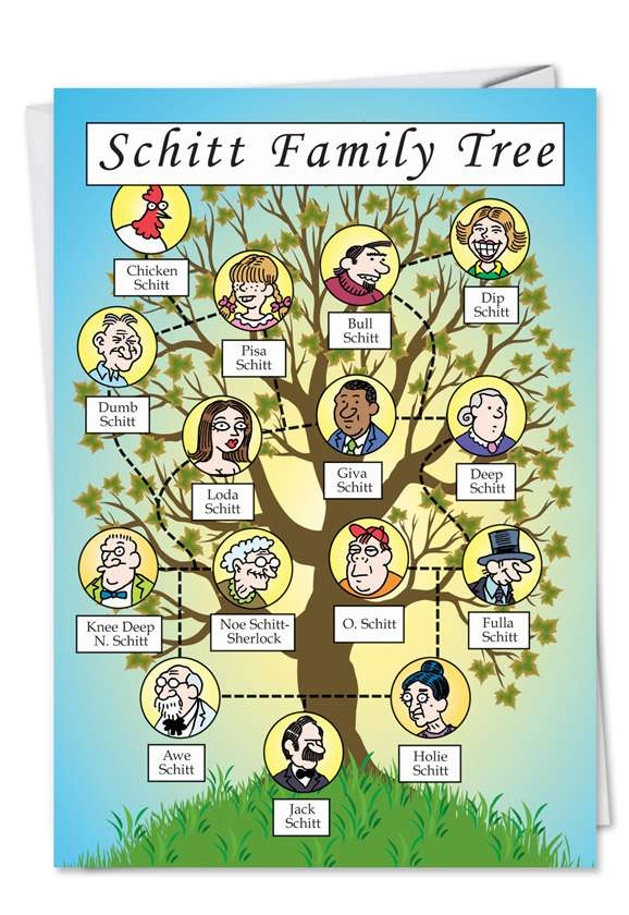 Schitt Family Tree: Hilarious Birthday Paper Card