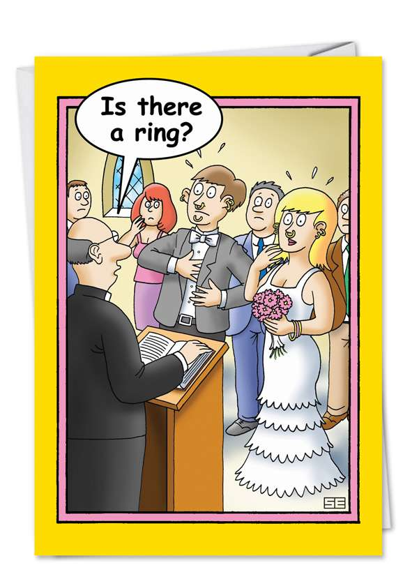 Is There a Ring: Humorous Congratulations Printed Card