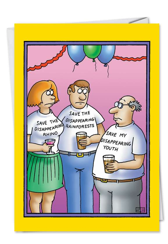 Disappearing Yout: Hilarious Birthday Paper Card