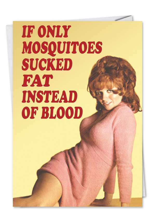 Fat Mosquitoes: Hysterical Blank Printed Greeting Card