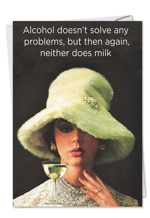 Milk and Alcohol: Hilarious Birthday Printed Card