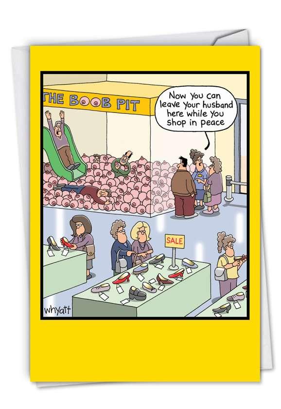 Boob Pit: Humorous Blank Printed Card