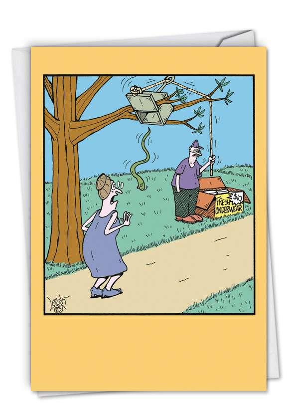 Dry Underwear: Funny Blank Greeting Card