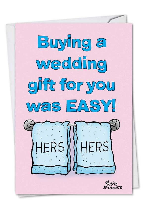 Hers And Hers Gay Wedding: Funny Congratulations Paper Card