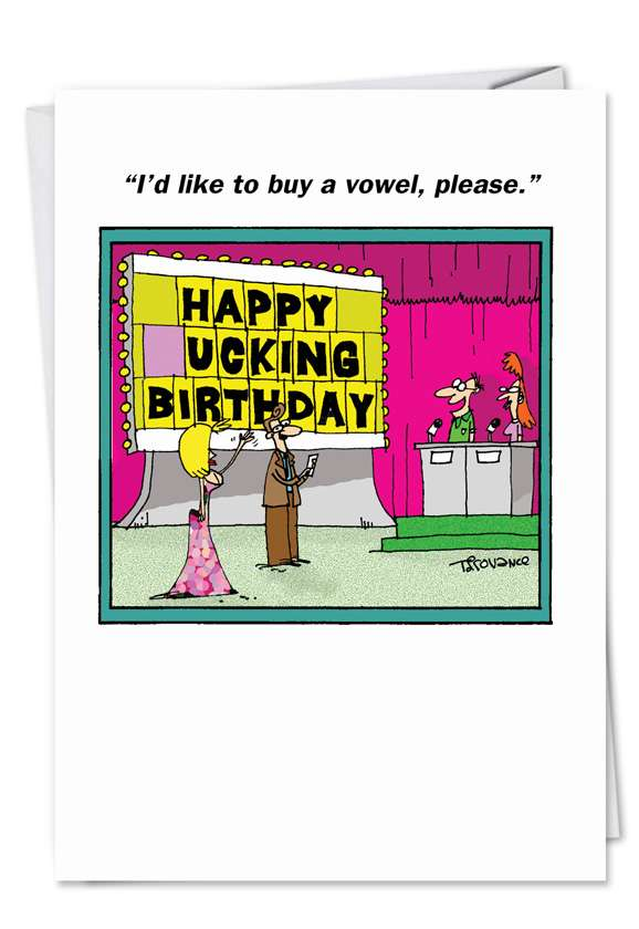 Spell It Out: Funny Birthday Printed Greeting Card