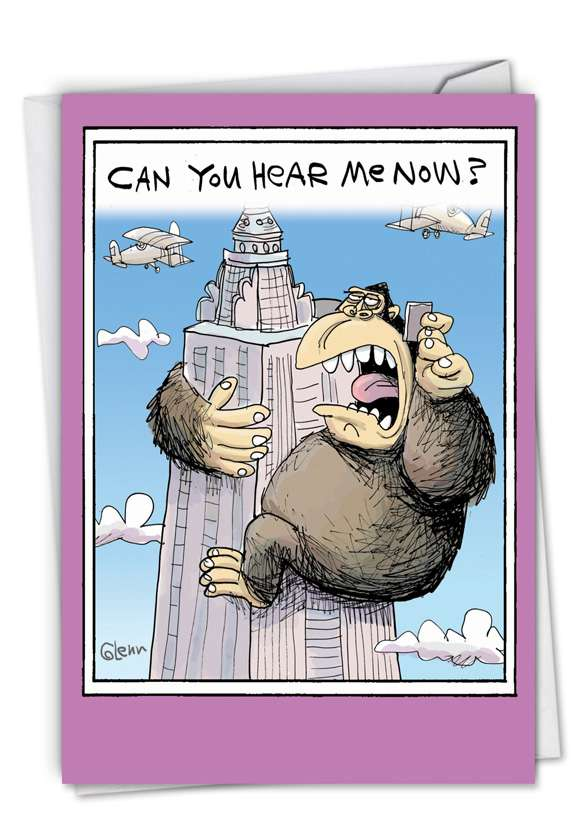 Can You Hear Me Now: Humorous Birthday Greeting Card
