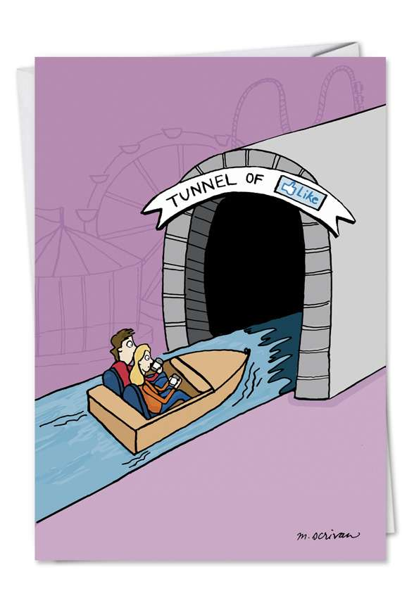 Tunnel of Like: Funny Birthday Printed Card