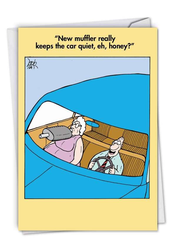New Muffler: Humorous Birthday Printed Card