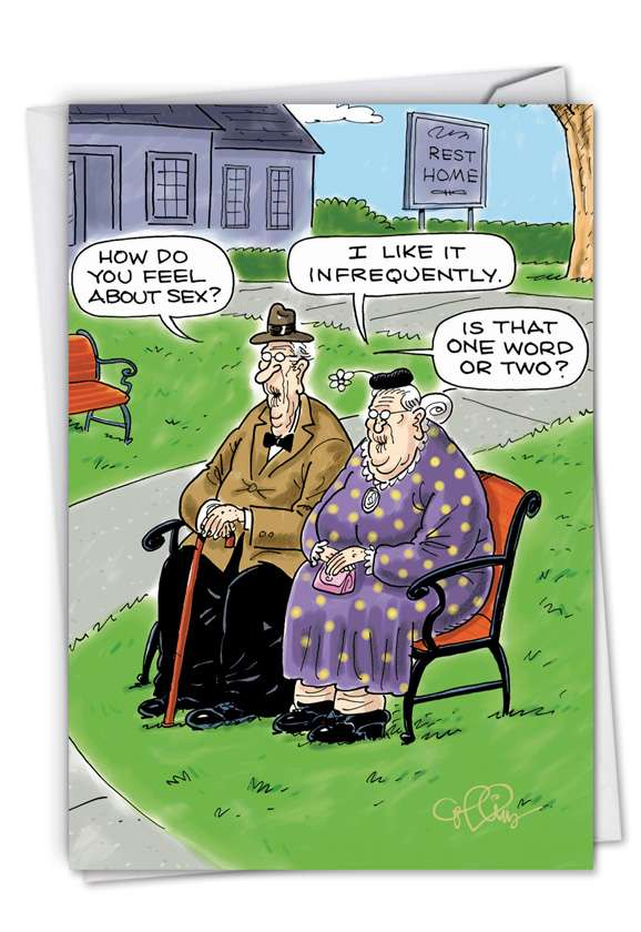 Infrequently: Hysterical Blank Greeting Card
