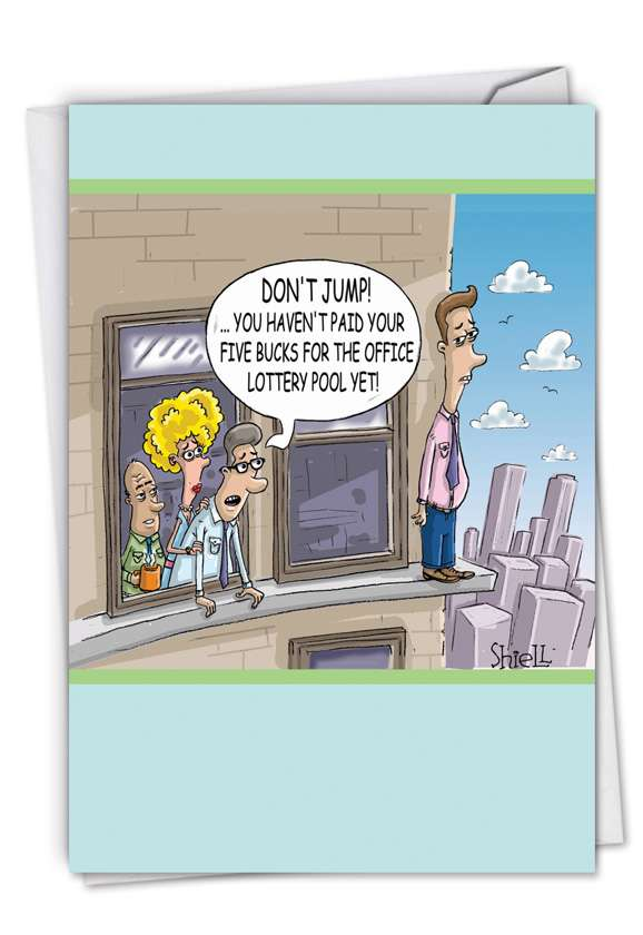 Don't Jump: Hilarious Retirement Greeting Card
