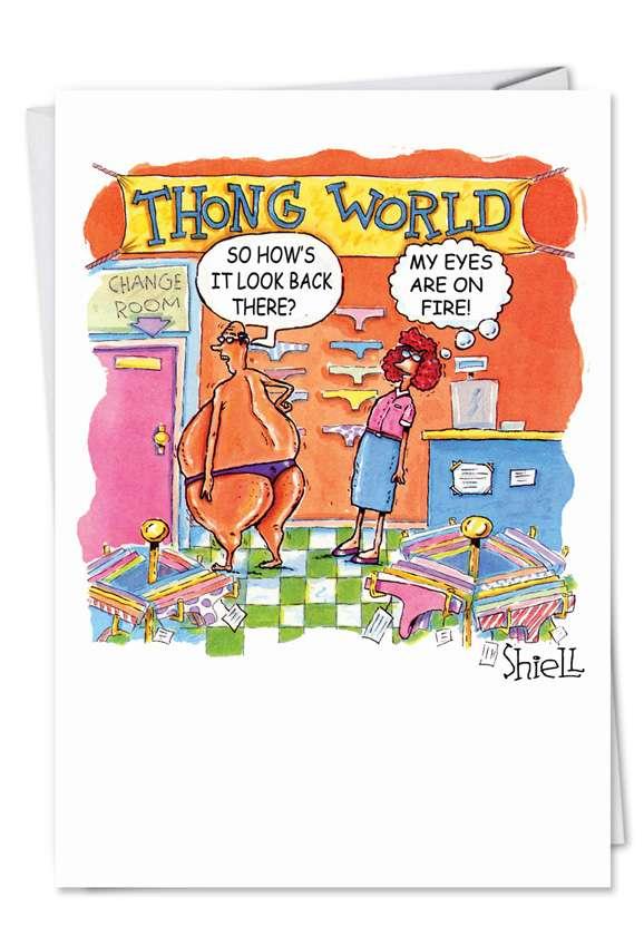 Thong World Blank Card
