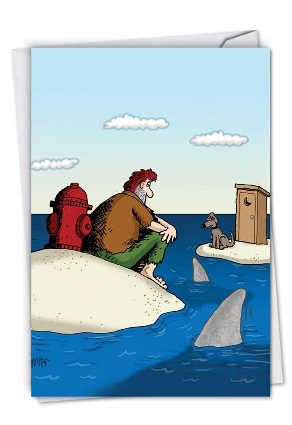 Piss Island: Hilarious Birthday Printed Greeting Card