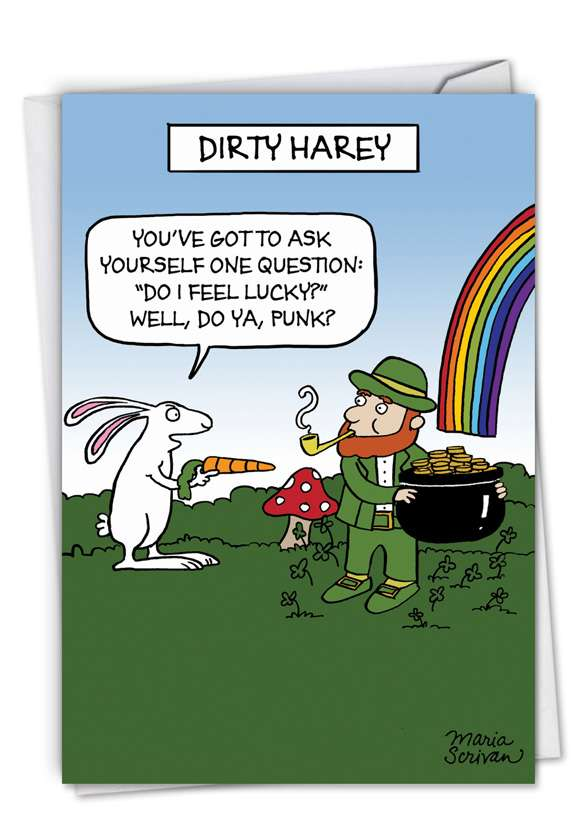 Dirty Harey: Humorous St. Patrick's Day Greeting Card