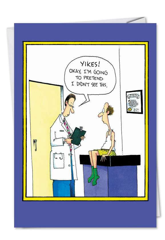 Dr. Yikes: Humorous Get Well Greeting Card