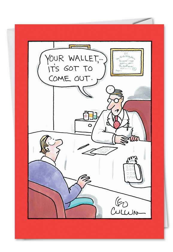 Your Wallet: Hysterical Get Well Printed Greeting Card