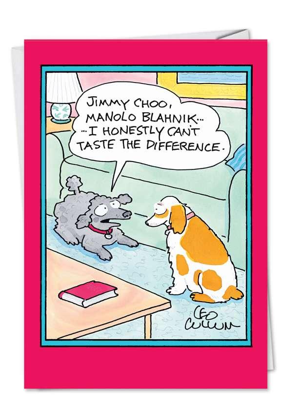 Jimmy Choo: Hilarious Birthday Paper Card