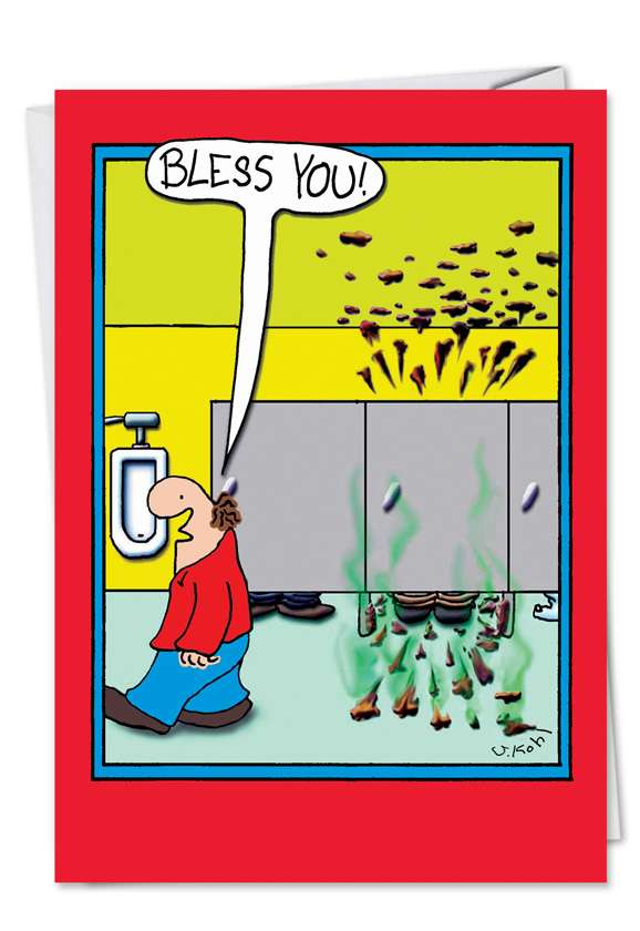 Bless You Poop: Funny Birthday Printed Card