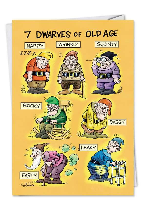 Oldage Dwarves: Hysterical Birthday Paper Greeting Card