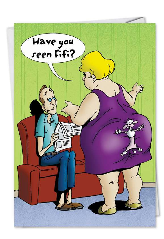 Humorous Birthday Greeting Card from NobleWorksCards.com - Lost Fifi