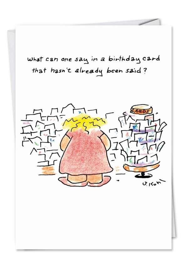 Birthday New Year: Humorous Birthday Paper Card
