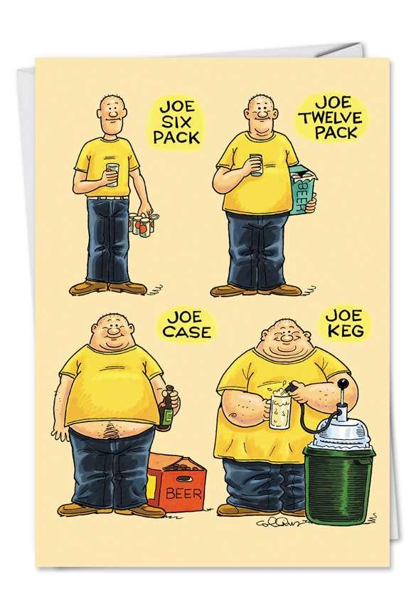 Joe Six Pack: Hilarious Birthday Printed Card