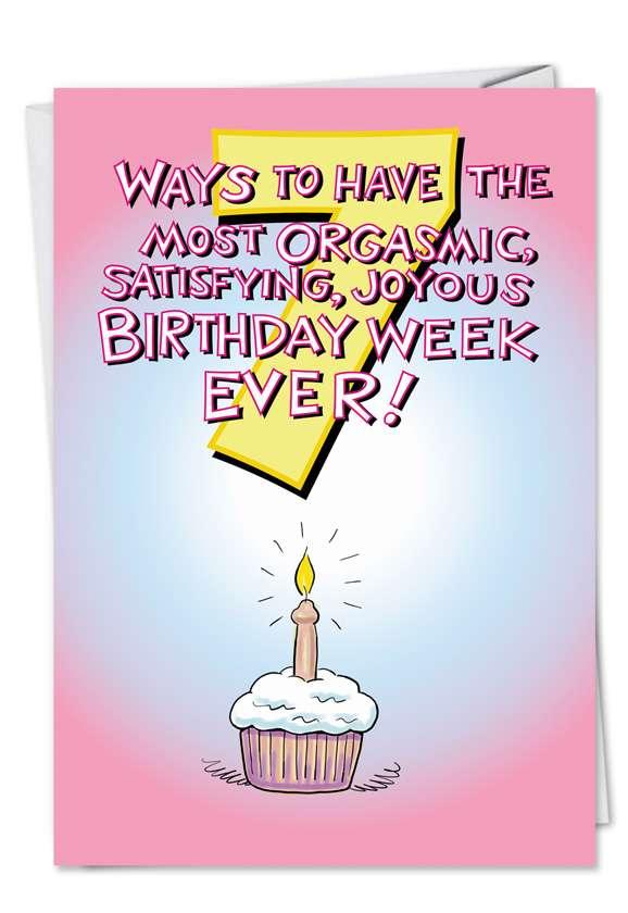 Seven Ways Sexual Birthday Card