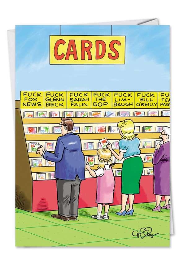 Fucking Cards: Humorous Birthday Printed Greeting Card