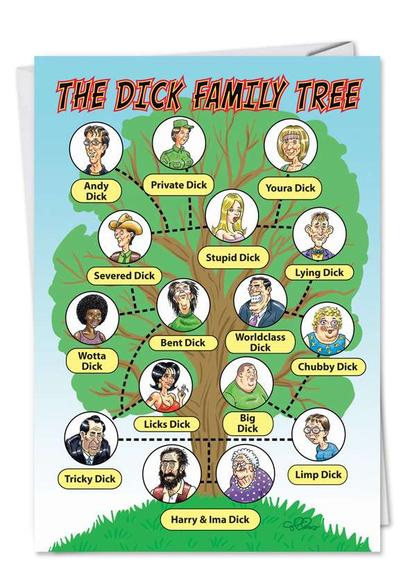 Dick Family Tree: Humorous Birthday Printed Card