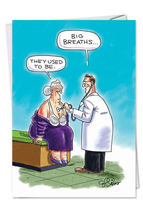 Big Breaths: Humorous Birthday Paper Card