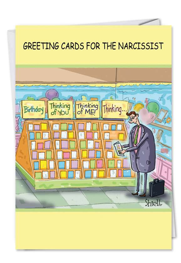 Narcissist Cards Blank Card