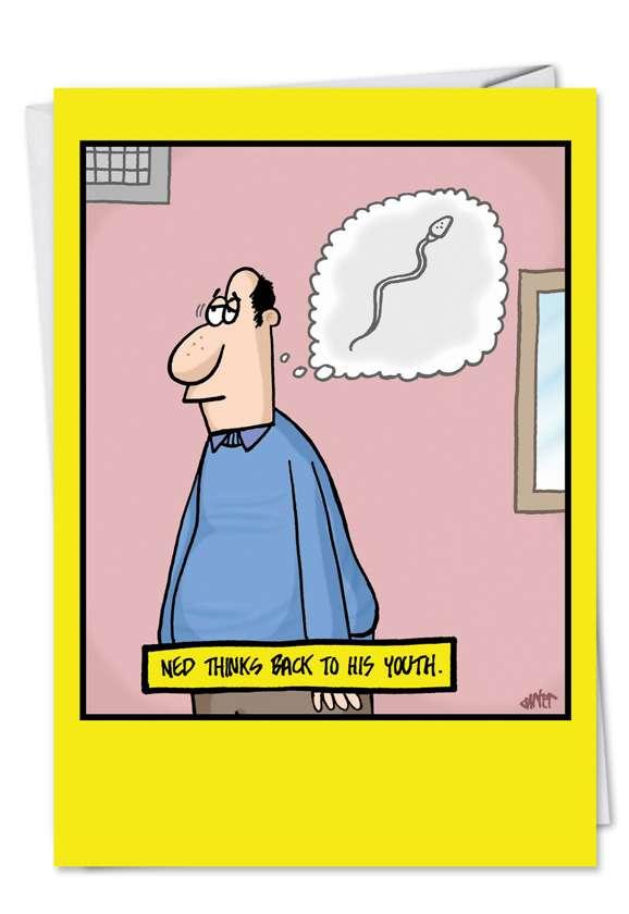 Sperm Recall: Humorous Birthday Paper Greeting Card
