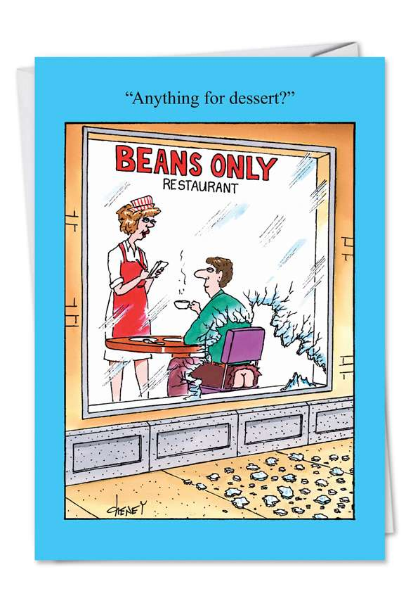 Beans Only: Hysterical Birthday Paper Greeting Card