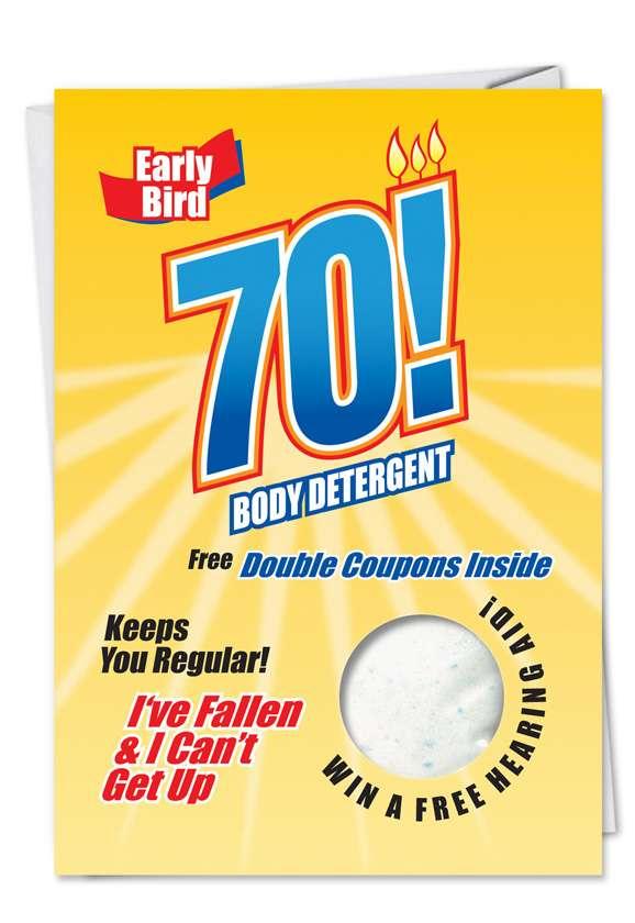 70 Body Detergent: Hilarious Birthday Paper Card