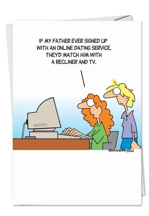 OkCupid Joke: Hilarious Birthday Father Paper Card