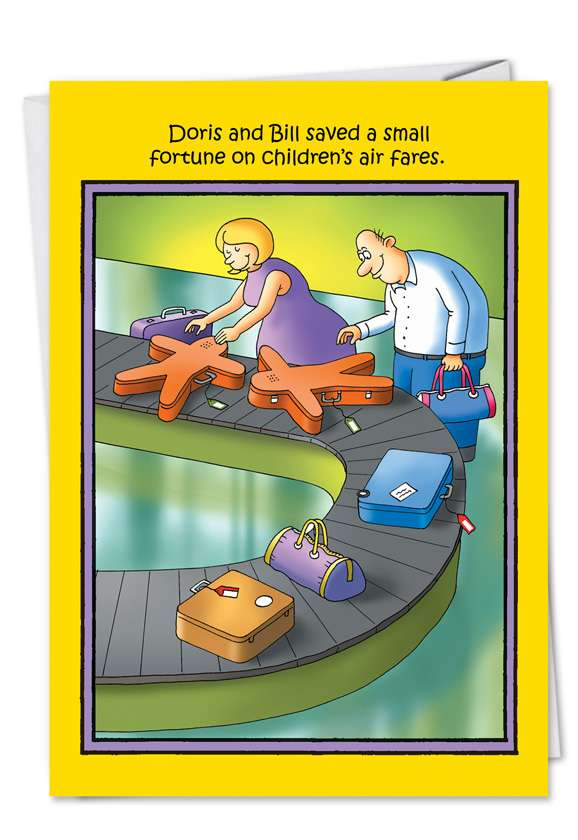 Children Air Faires: Funny Birthday Printed Card