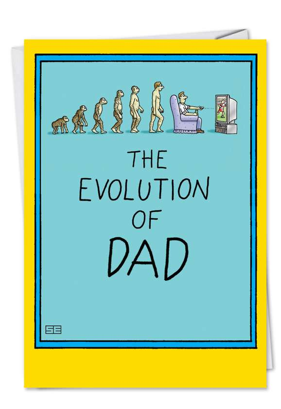 Dad and Darwin: Hysterical Birthday Father Printed Greeting Card