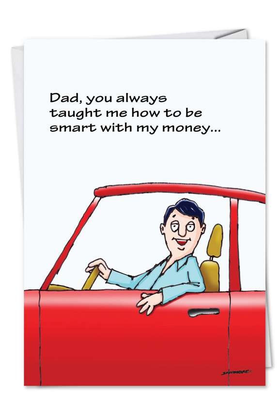 Locked Wallet: Funny Birthday Father Printed Card