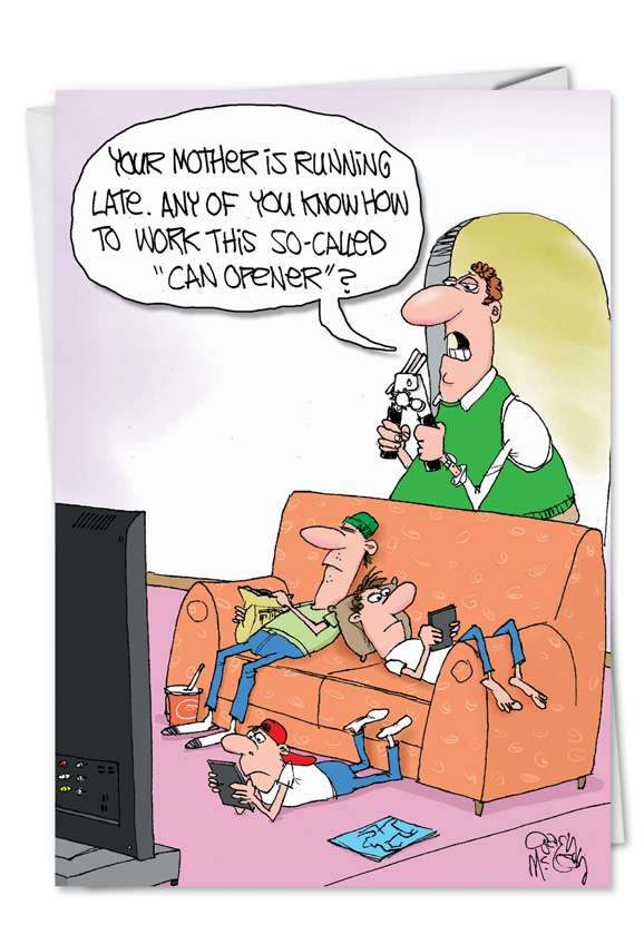 Can Opener: Hilarious Father's Day Printed Card