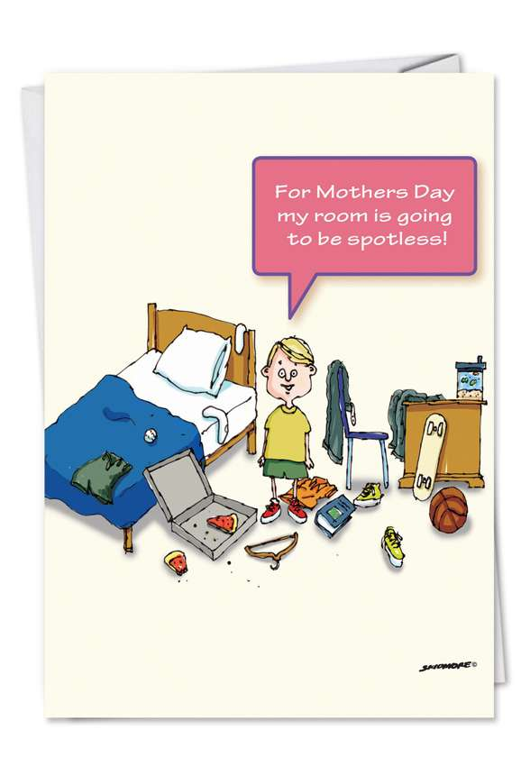 Spotless Room: Funny Mother's Day Paper Card