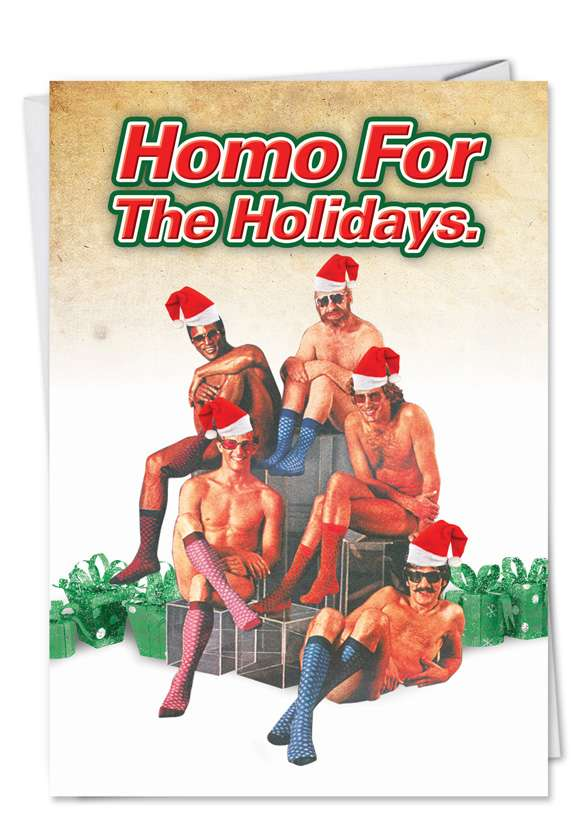 Homo for the Holidays Card